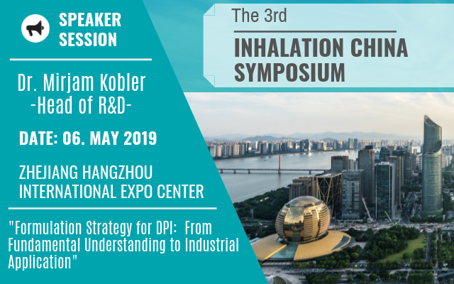 Meggle at Inhalation China Symposium 2019