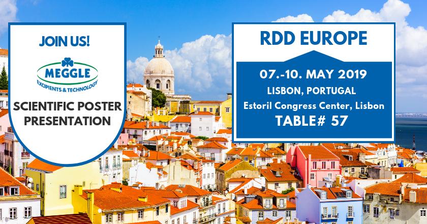 Meggle at RDD Europe 2019 - Visit us at Table 57