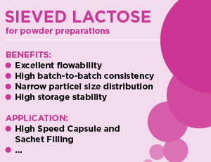 Sieved Lactose Thumb - Powder Preparations - Excipients from MEGGLE
